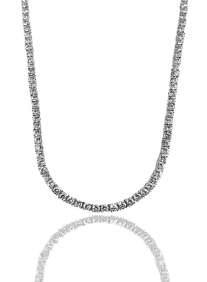 Necklace - Diamond Tennis Chains Set X White Gold