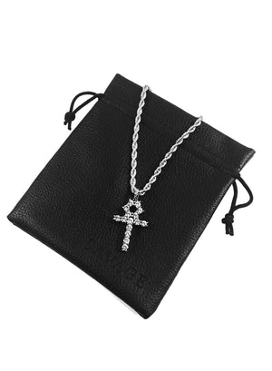 Necklace - Diamond Tennis & Cross Set X White Gold