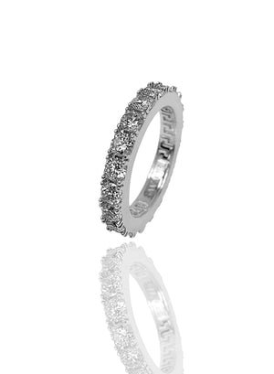 Necklace - Eternity Ring X White Gold