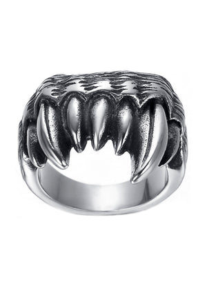 Necklace - Fangs Ring X Stainless