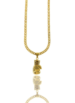 Necklace - Knockout Glove X 18k Gold