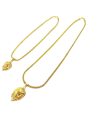 Necklace - Lion Layered Set X 18k Gold