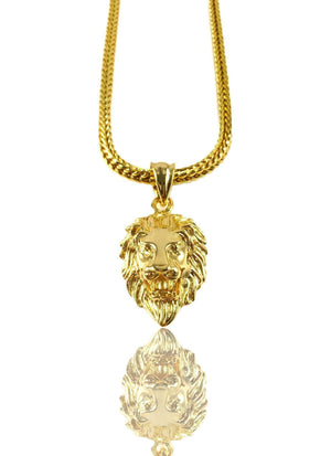 Necklace - Lion X 18k Gold