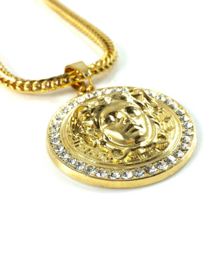 Necklace - Medusa Medallion X 18k Gold
