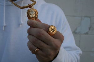 Necklace - Medusa Ring X 18k Gold