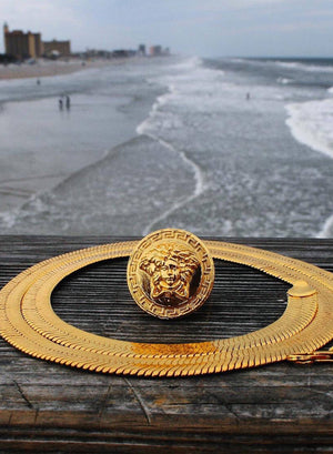 Necklace - Medusa X Ring | 18k Gold