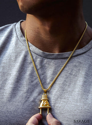 Necklace - Plug X 18k Gold