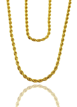 Necklace - Rope Chains Layered Set X 18k Gold