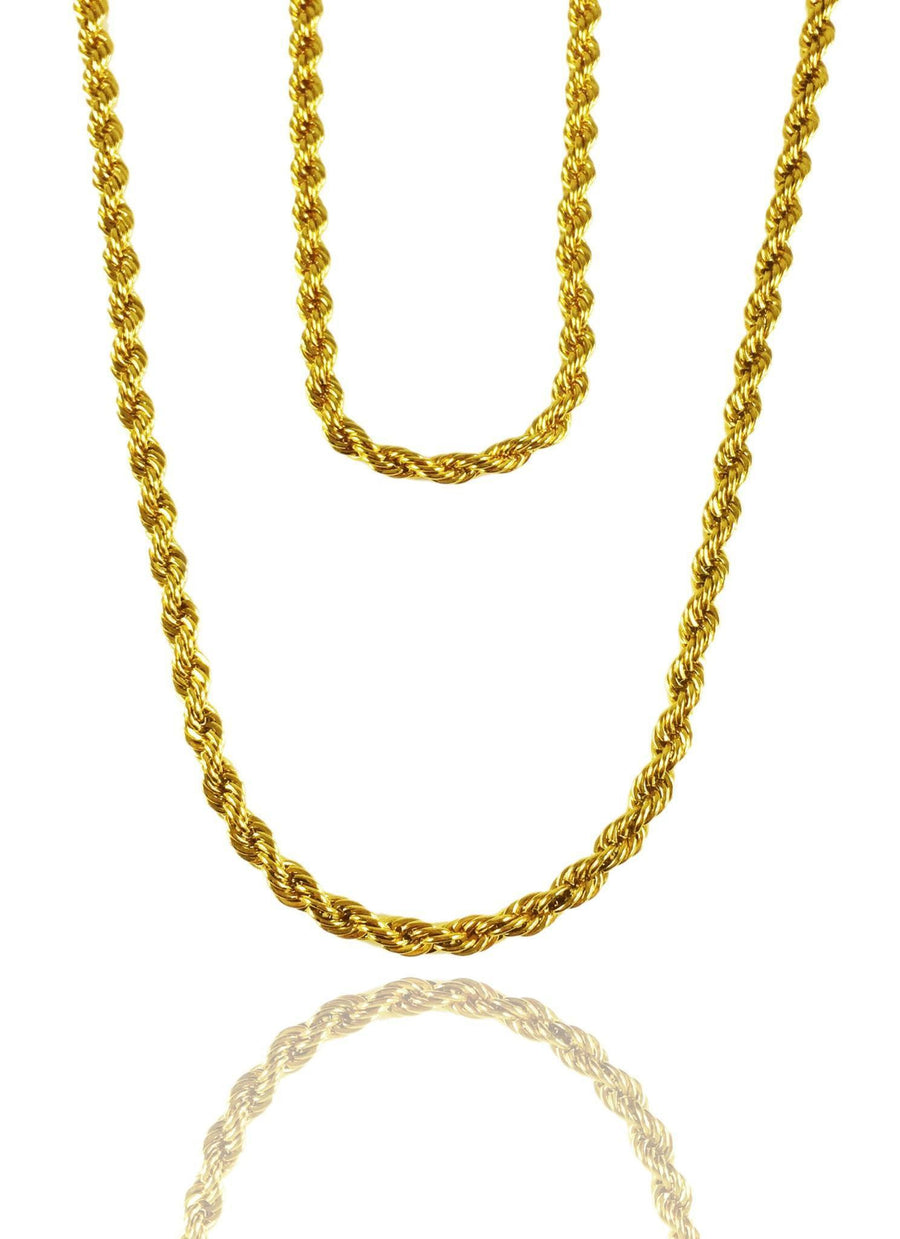 Necklace - Rope Chains Layered Set X Gold