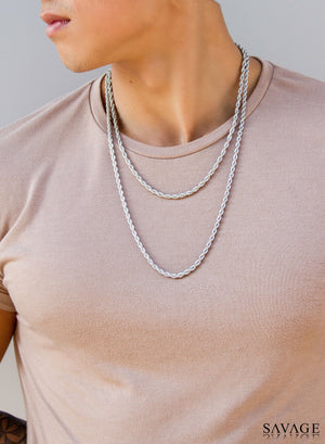 Necklace - Rope Chains X White Gold