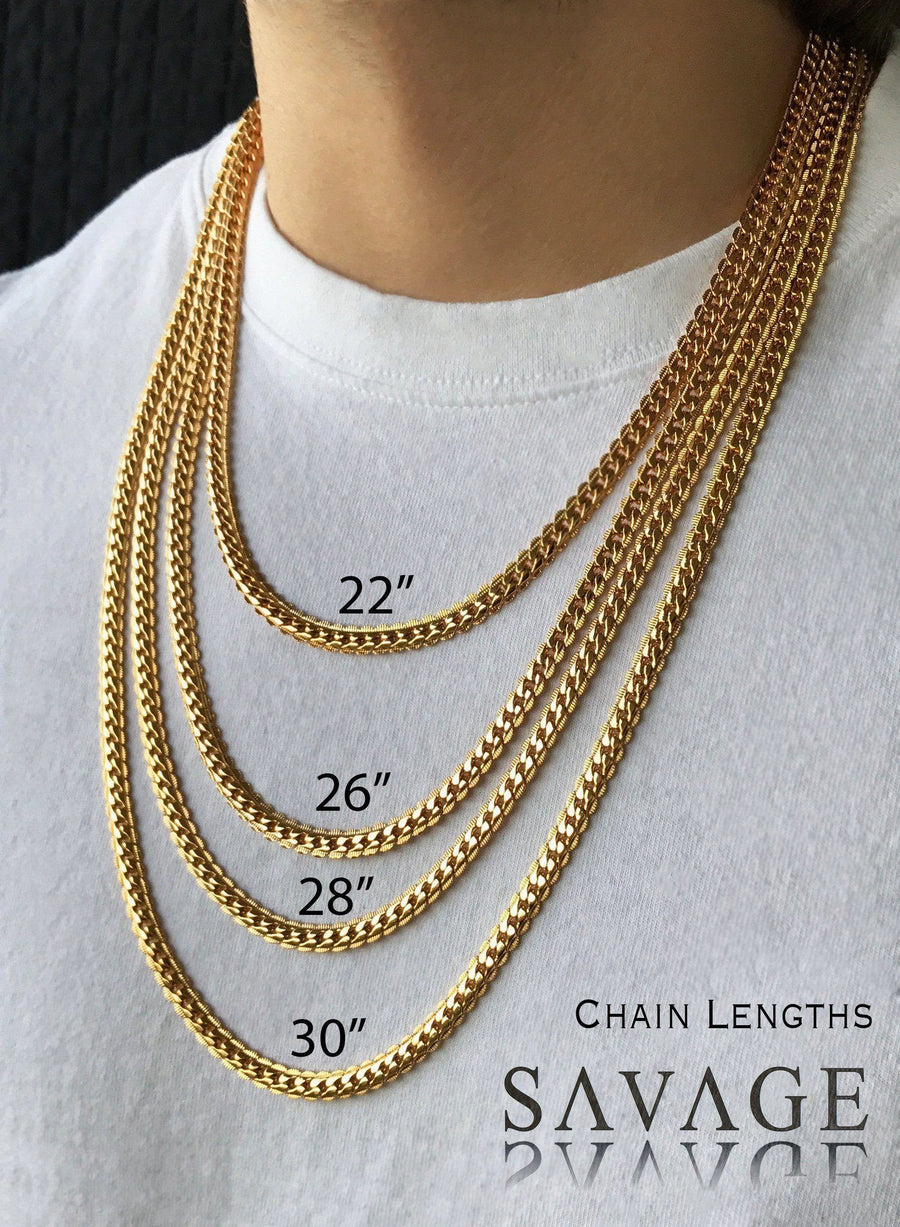 Necklace - Serpentine Chains Layered Set X 18k Rose Gold