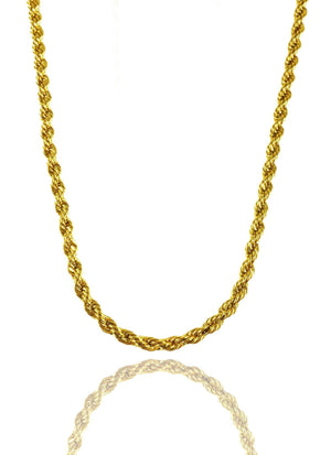 Necklace - The Rope Chain X 18k Gold