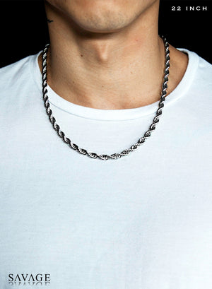 Necklace - The Rope Chain X White Gold