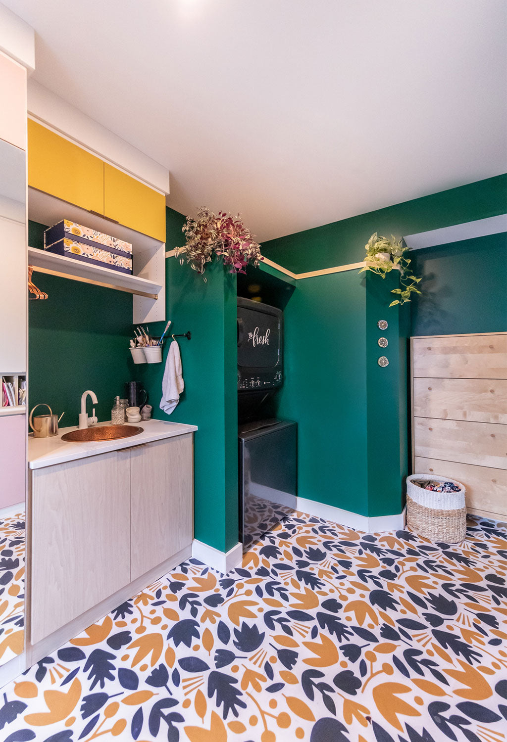 mudroom, laundry room, small home, home renovation