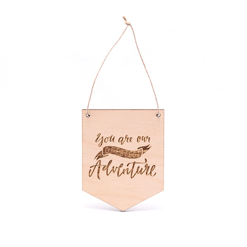 MINI Greatest Adventure WOODEN FLAG