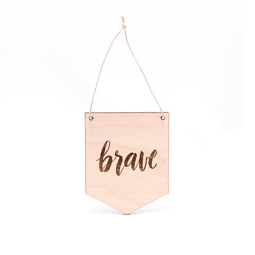 MINI Brave WOODEN FLAG