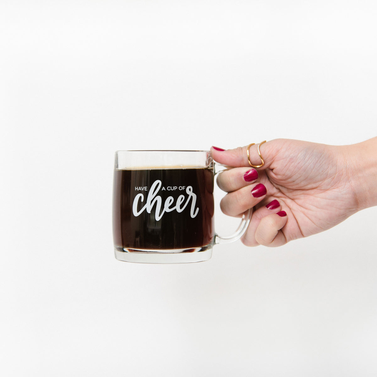 Have a Cup of Cheer Glass Mug