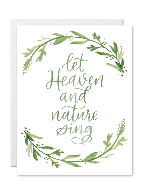 Let Heaven & Nature Sing CARD