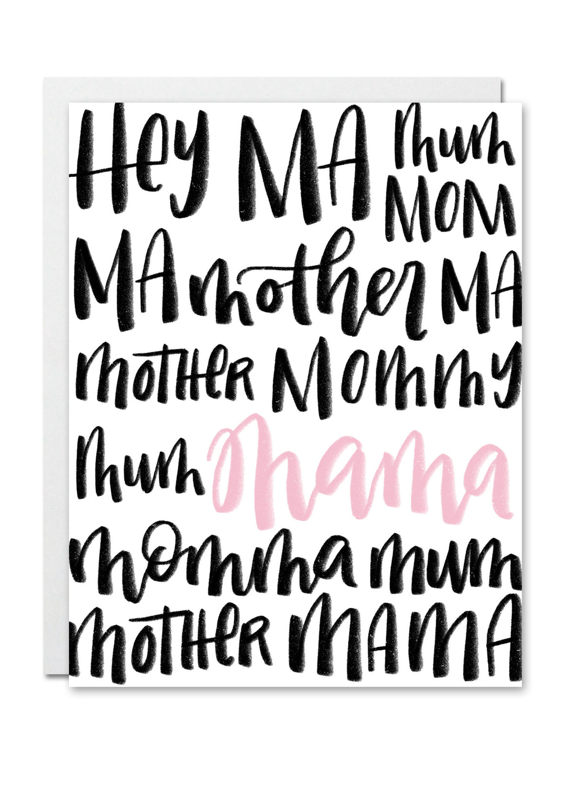 Hey Ma, Mum, Mom CARD
