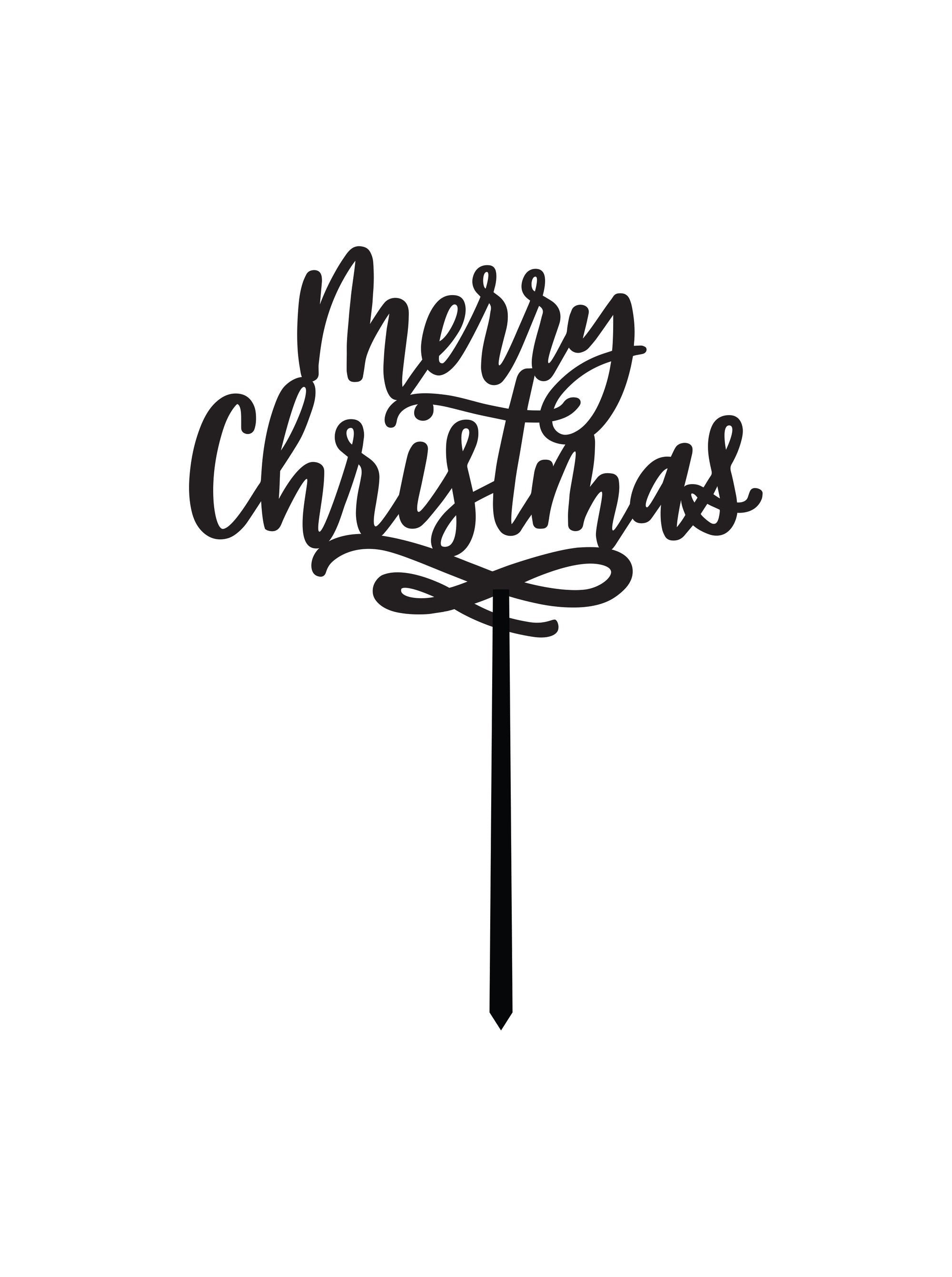 Merry Christmas Cake Topper Justine Ma