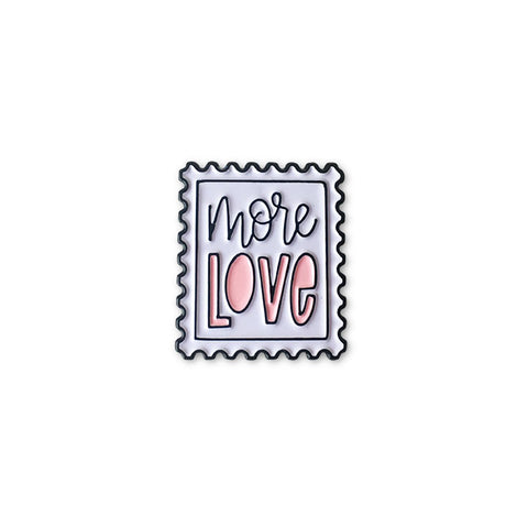 More Love Postage Stamp Pin