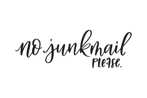 No Junkmail Decal