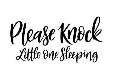 Please Knock, Little One Sleeping Decal