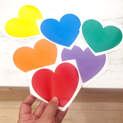 Rainbow Heart Decals