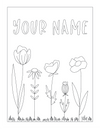 Spring Colouring Instant Download