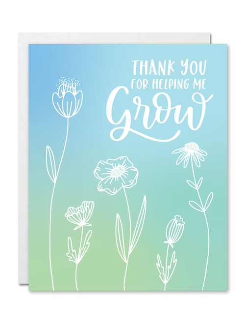 Thank You for Helping Me Grow CARD