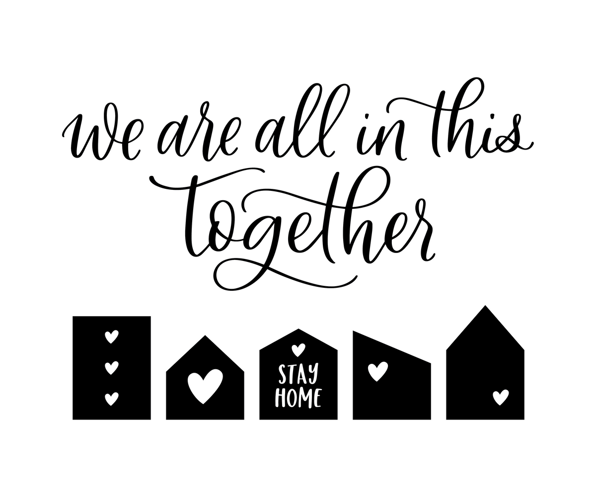 We are all in this Together Decal