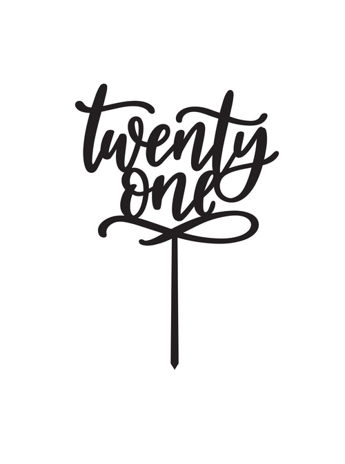 Twenty One CAKE TOPPER