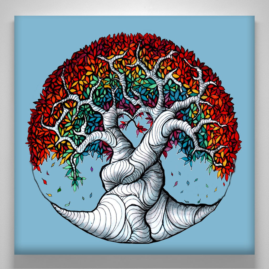 """Blue Rainbow Tree of Life"""