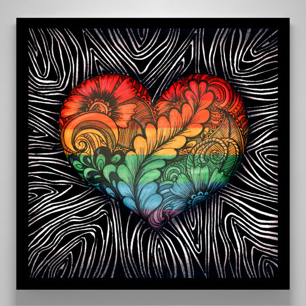 """Rainbow Heart Tangle"""