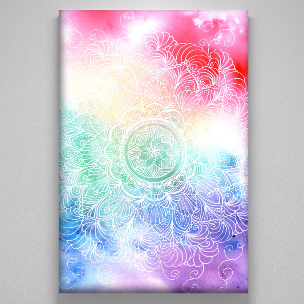"""White Rainbow Mandala"""