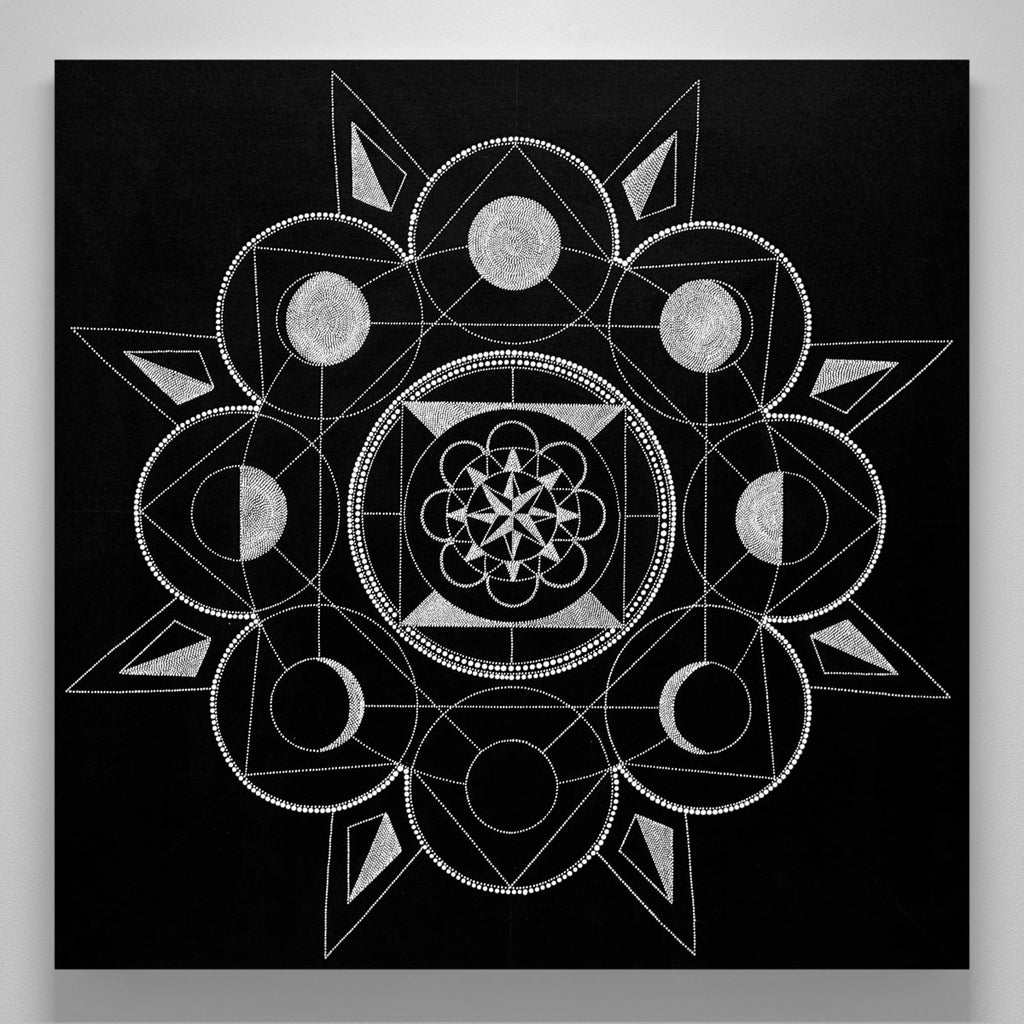 """Moon Phase Mandala Raw"""