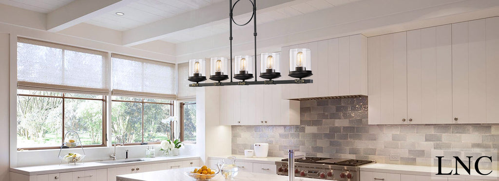 LNC Linear Kitchen Island Lighting Light Ceiling Lights Chandelier - Linear kitchen island lighting