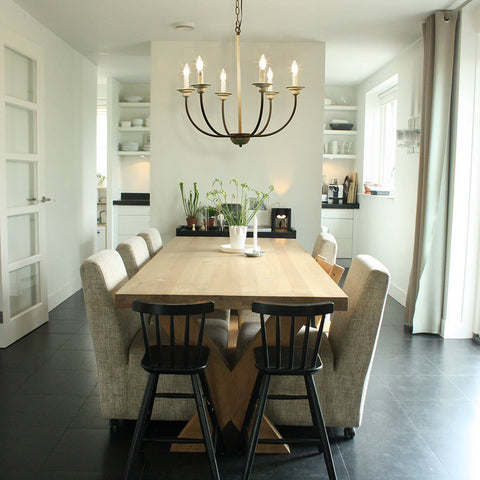 French Country chandelier for dining room