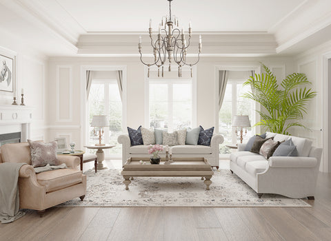 French Country shabby chic chandelier for living room