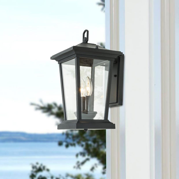 LNC HOME Transitional Black Wall Sconces Outdoor Lighting A03278-1