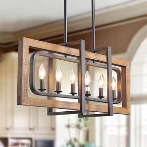LNC HOME Farmhouse Kitchen Island Lighting Dining Room Lighting A03429-1