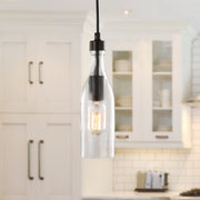 LNC Pendant Glass Bottle Chandelier Adjustable 1-light