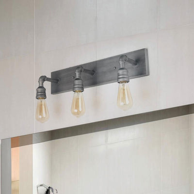 LNC HOME Industrial Silver Water Pipe Vanity Lights