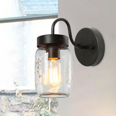 LNC HOME Transitional Mason Jar Vanity lights