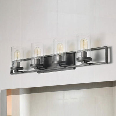 LNC HOME Transitional Silver Square Frame Vanity Lights