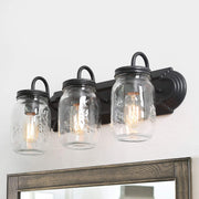 LNC Vanity Lights Farmhouse Mason Jar Light 3-Light