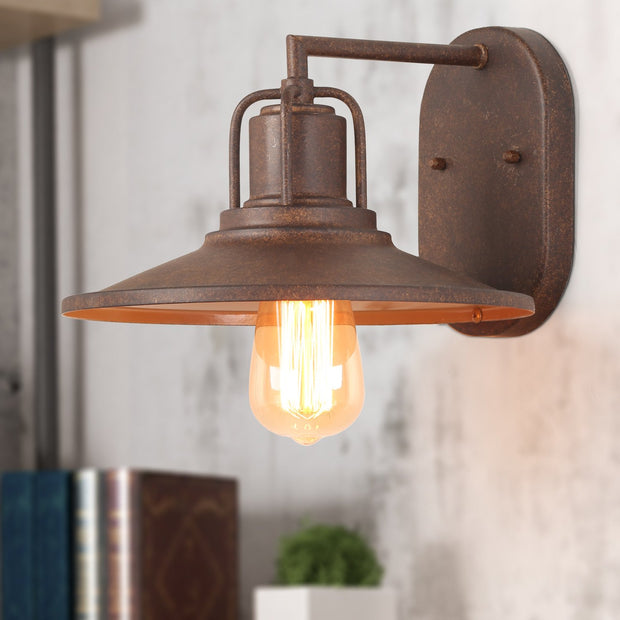 "LNC Wall Sconces Rust Indoor Industrial 1-Light 7""H x 10.2""L"