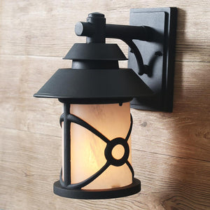 LNC HOME Transitional Black Wall Sconces Outdoor Lighting A03317-1