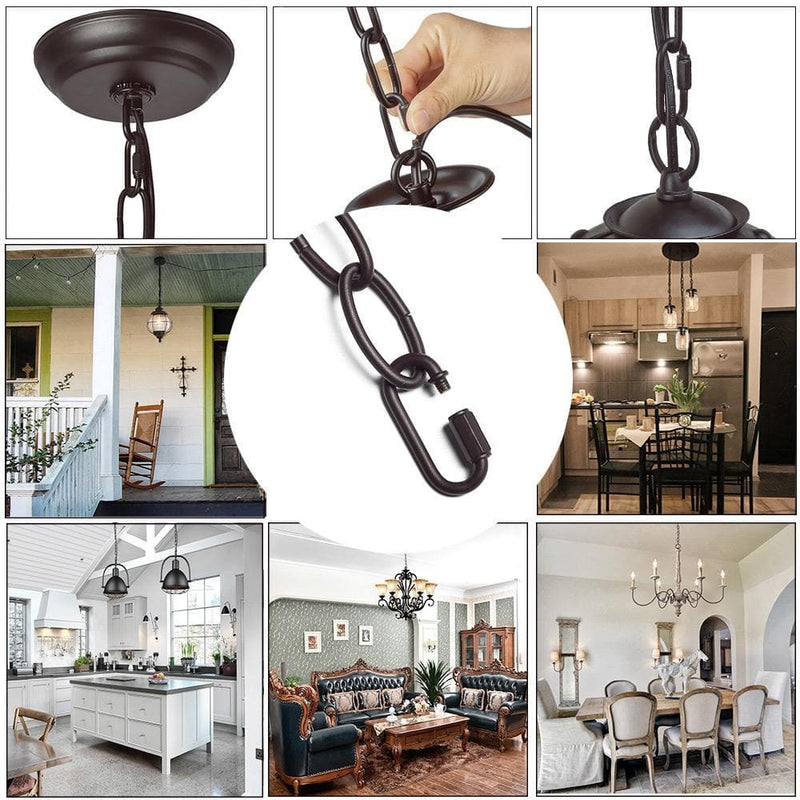 Black 19-Feet Ceiling Extra Loop Chain Extension Lighting Chains