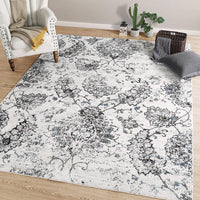 Distressed Non Slip Area Rug 5'x7' Coastal Style